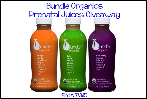 Bundle Organics Giveaway - ends 7/3/15