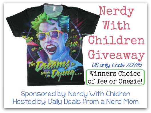 Nerdy With Children Giveaway {US, ends 7/27/15}