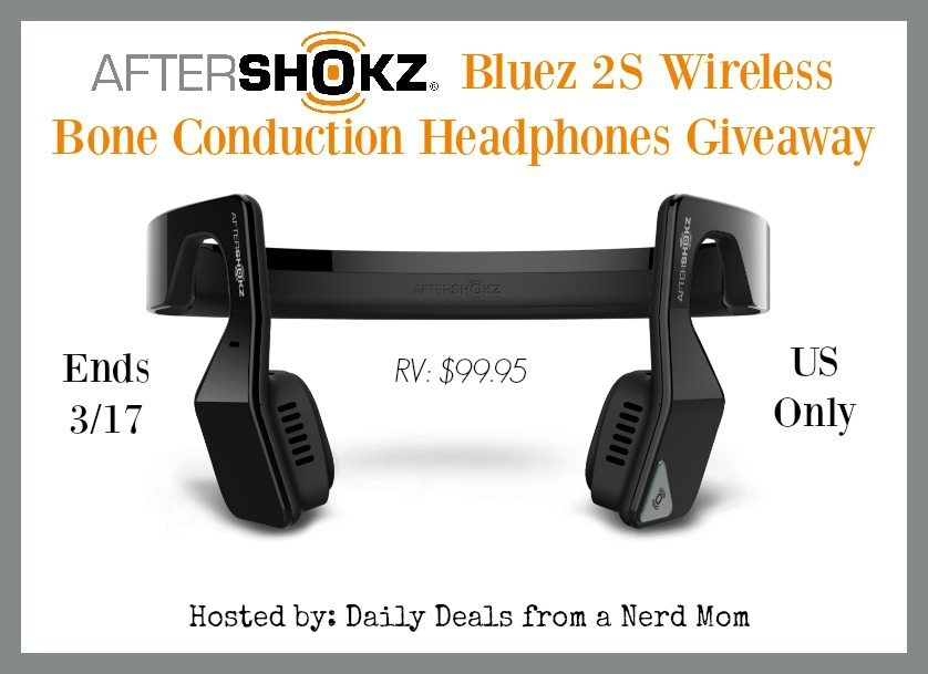 AfterShokz Bluez 2S Wireless Headphones Giveaway {US, ends 3/17}