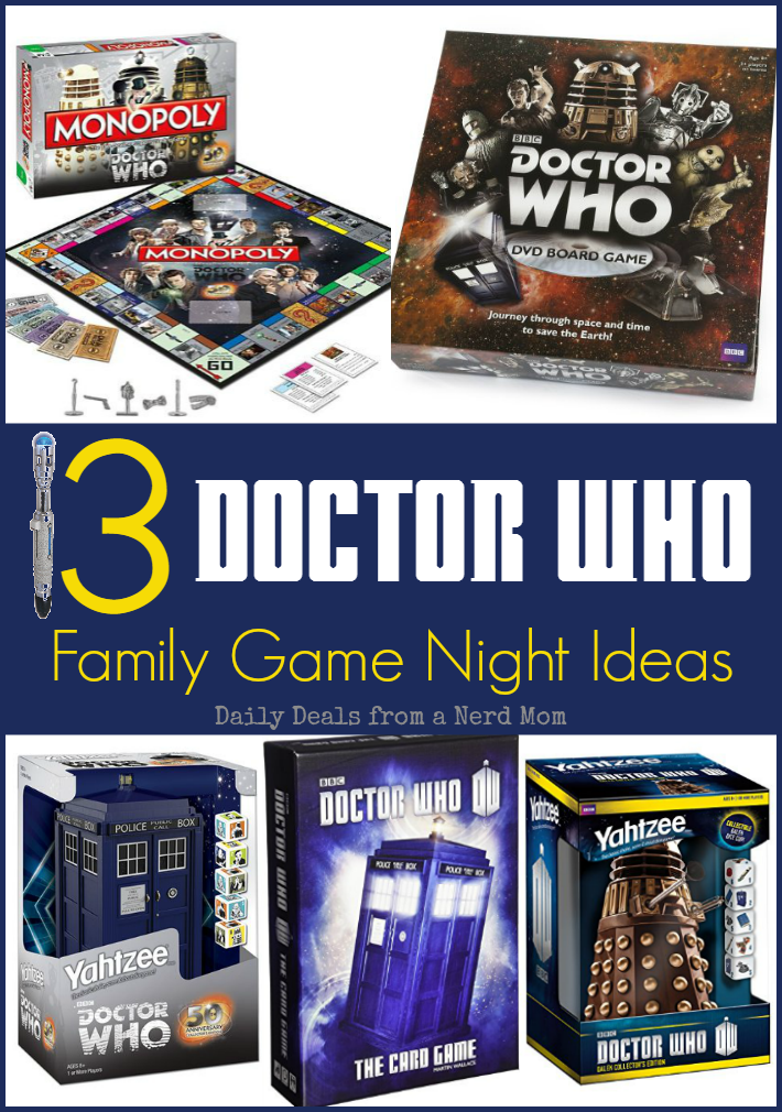 13 Doctor Who Family Game Night Ideas
