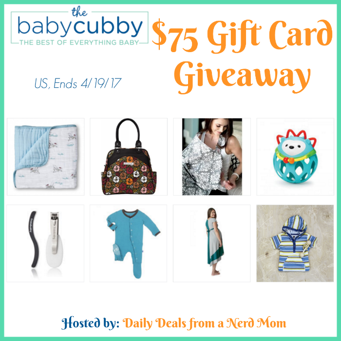 Baby Cubby $75 Gift Card Giveaway {US, 4/19/17}