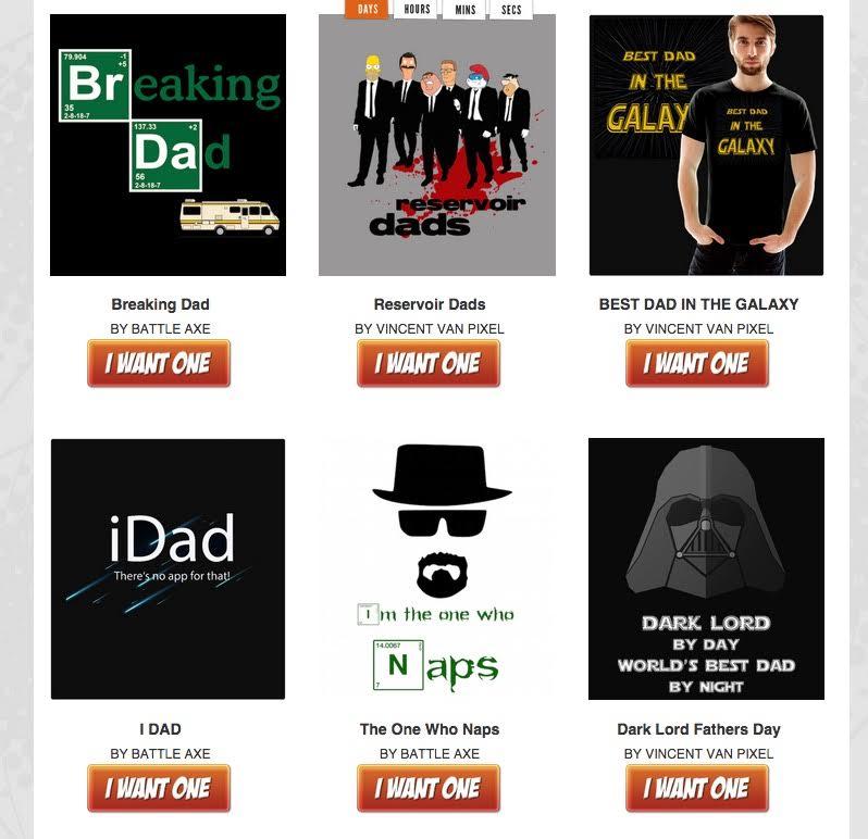 ShirtBattle Dad Designs